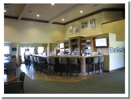 The clubhouse bar at Gold Hills Golf Course in Redding